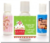 Christmas Cupcake - Personalized Christmas Lotion Favors