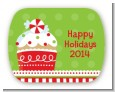 Christmas Cupcake - Personalized Christmas Rounded Corner Stickers thumbnail