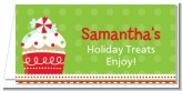 Christmas Cupcake - Personalized Christmas Place Cards