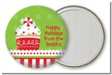 Christmas Cupcake - Personalized Christmas Pocket Mirror Favors