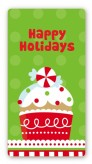 Christmas Cupcake - Custom Rectangle Christmas Sticker/Labels