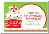 Christmas Cupcake - Christmas Thank You Cards