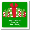 Christmas Gift Boxes - Square Personalized Christmas Sticker Labels thumbnail