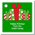 Christmas Gift Boxes - Personalized Christmas Card Stock Favor Tags thumbnail