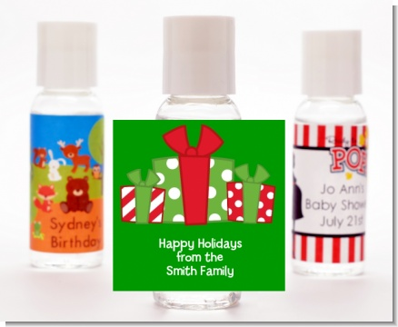 Christmas Gift Boxes - Personalized Christmas Hand Sanitizers Favors