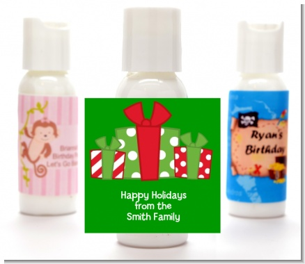 Christmas Gift Boxes - Personalized Christmas Lotion Favors