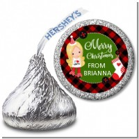 Christmas Girl - Hershey Kiss Christmas Sticker Labels