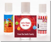 Christmas Ornaments - Personalized Christmas Hand Sanitizers Favors