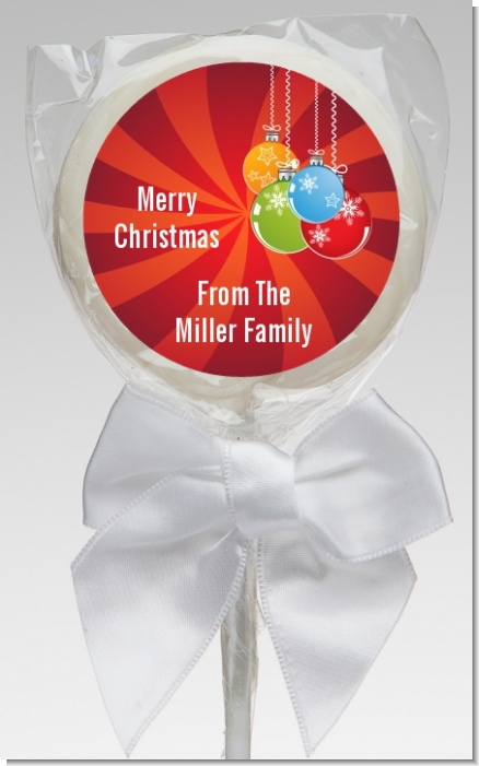 Christmas Ornaments - Personalized Christmas Lollipop Favors