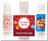 Christmas Ornaments - Personalized Christmas Lotion Favors