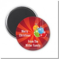 Christmas Ornaments - Personalized Christmas Magnet Favors