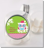 Winter Owl - Personalized Christmas Candy Jar