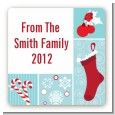 Christmas Spectacular - Square Personalized Christmas Sticker Labels thumbnail