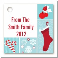 Christmas Spectacular - Personalized Christmas Card Stock Favor Tags