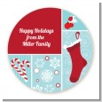 Christmas Spectacular - Round Personalized Christmas Sticker Labels thumbnail