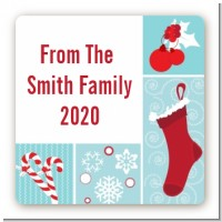 Christmas Spectacular - Square Personalized Christmas Sticker Labels