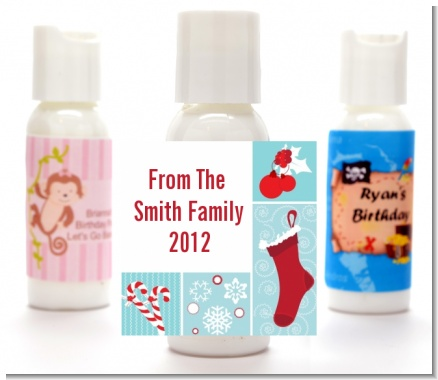 Christmas Spectacular - Personalized Christmas Lotion Favors