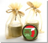 Christmas Stocking - Christmas Gold Tin Candle Favors