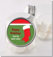 Christmas Stocking - Personalized Christmas Candy Jar