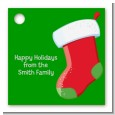 Christmas Stocking - Personalized Christmas Card Stock Favor Tags thumbnail