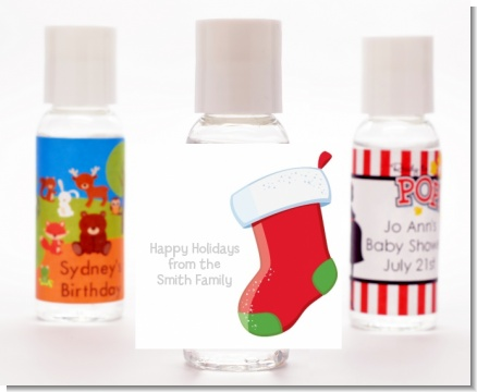 Christmas Stocking - Personalized Christmas Hand Sanitizers Favors