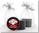 Christmas Time - Christmas Black Candle Tin Favors