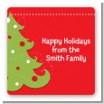 Christmas Tree - Square Personalized Christmas Sticker Labels thumbnail