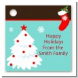 Christmas Tree and Stocking - Personalized Christmas Card Stock Favor Tags thumbnail