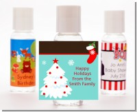 Christmas Tree and Stocking - Personalized Christmas Hand Sanitizers Favors
