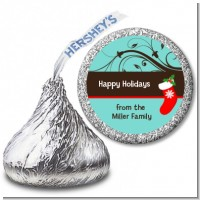 Christmas Tree and Stocking - Hershey Kiss Christmas Sticker Labels