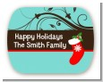 Christmas Tree and Stocking - Personalized Christmas Rounded Corner Stickers thumbnail