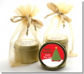 Christmas Tree - Christmas Gold Tin Candle Favors