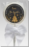 Christmas Tree Gold Glitter - Personalized Christmas Lollipop Favors