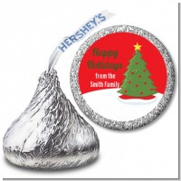 Christmas Tree - Hershey Kiss Christmas Sticker Labels