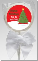 Christmas Tree - Personalized Christmas Lollipop Favors