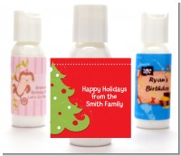 Christmas Tree - Personalized Christmas Lotion Favors