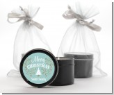 Christmas Tree with Glitter Scrolls - Christmas Black Candle Tin Favors