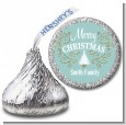 Christmas Tree with Glitter Scrolls - Hershey Kiss Christmas Sticker Labels thumbnail