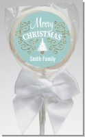 Christmas Tree with Glitter Scrolls - Personalized Christmas Lollipop Favors