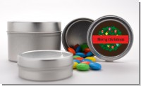 Christmas Wreath and Bells - Custom Christmas Favor Tins