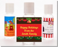 Christmas Wreath and Bells - Personalized Christmas Hand Sanitizers Favors