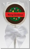 Christmas Wreath and Bells - Personalized Christmas Lollipop Favors