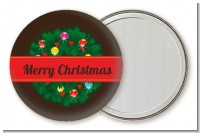 Christmas Wreath and Bells - Personalized Christmas Pocket Mirror Favors