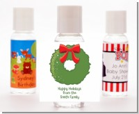 Christmas Wreath - Personalized Christmas Hand Sanitizers Favors