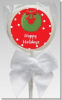 Christmas Wreath - Personalized Christmas Lollipop Favors