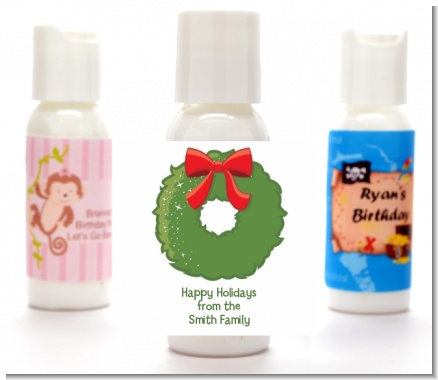 Christmas Wreath - Personalized Christmas Lotion Favors
