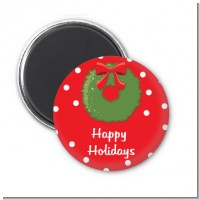 Christmas Wreath - Personalized Christmas Magnet Favors