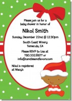 Christmas Baby African American - Baby Shower Invitations