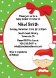 Christmas Baby Caucasian - Baby Shower Invitations thumbnail