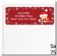Christmas Baby Snowflakes - Baby Shower Return Address Labels thumbnail